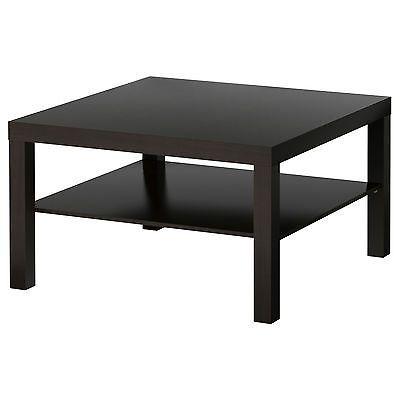 Ikea Lack Coffee Table Square Shape Colors Brown Black White