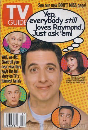 TV Guide Oct 5-11 2002 Everybody Loves Raymond, Doris Rob... https://www.amazon.com/dp/B002K75O2U/ref=cm_sw_r_pi_dp_x_3QpSxbYNXN36V