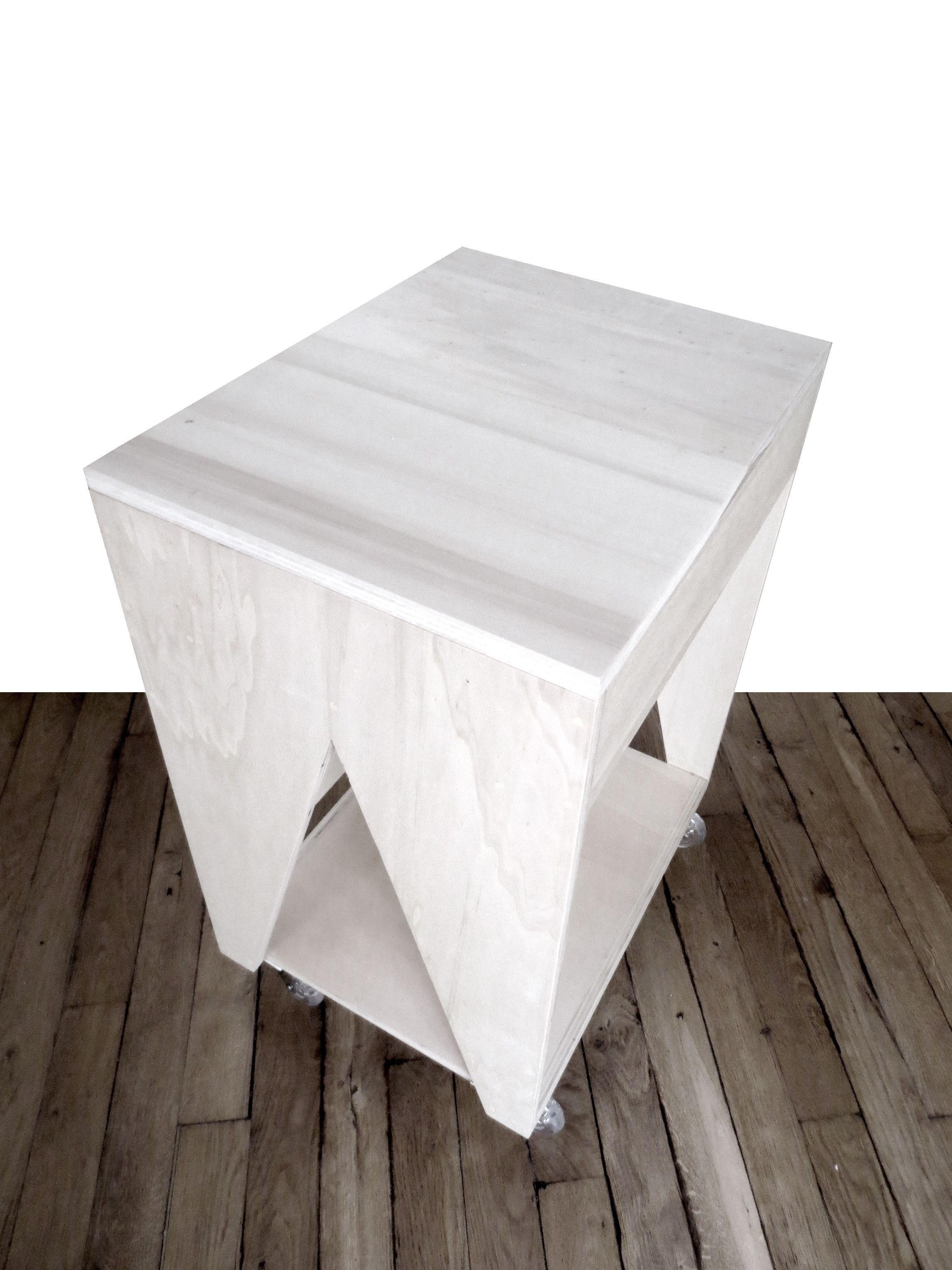 Bureau denfant en bois bois contreplaqu peuplier sur roulettes
