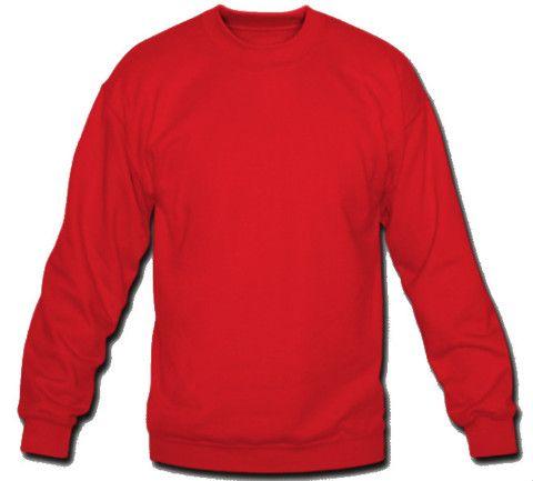 Plain Grey Crew Neck Sweatshirt Sweatshirt Crew Neck | DHMIS Red ...
