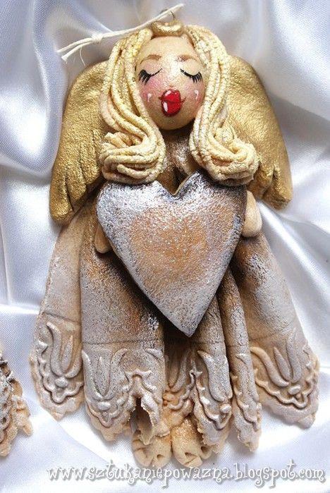 простые ангелочки из соленого теста фото родилась клане исе
