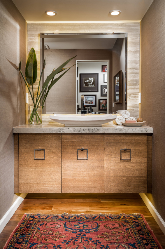 Powder room | Modern room divider, Modern dining room ...