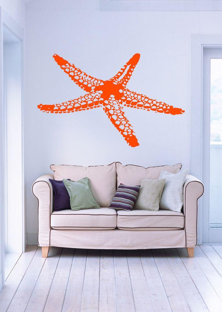 Wall Vinyl Decal Sea Star Fish Marine Ocean Beach House Decor Unique ...