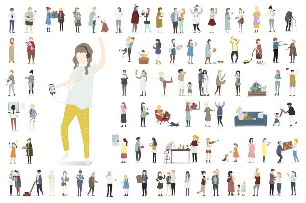 Home and family vector Free Vector | Free Vector #Freepik #freevector #people #icon #family #woman