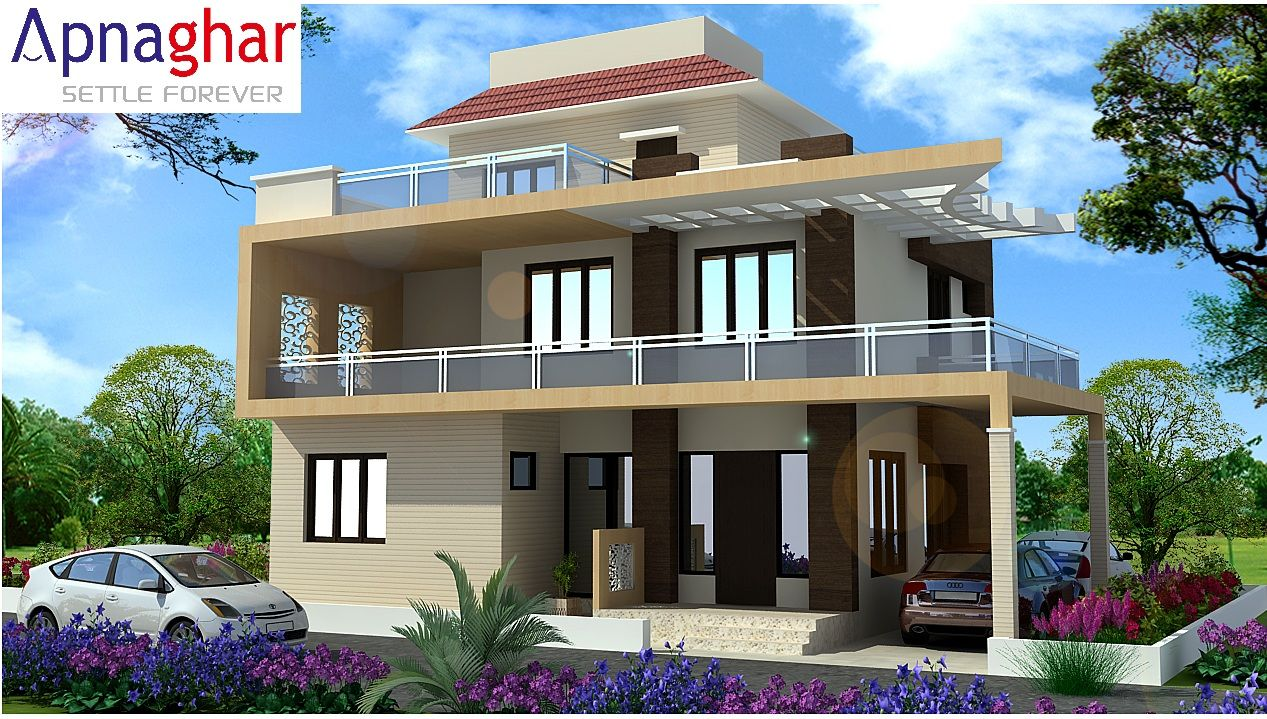 House front side design for Building houses with side views