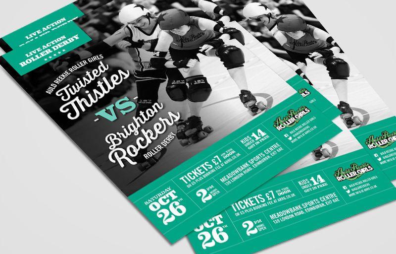 Auld reekie roller girls roller derby poster design mandy