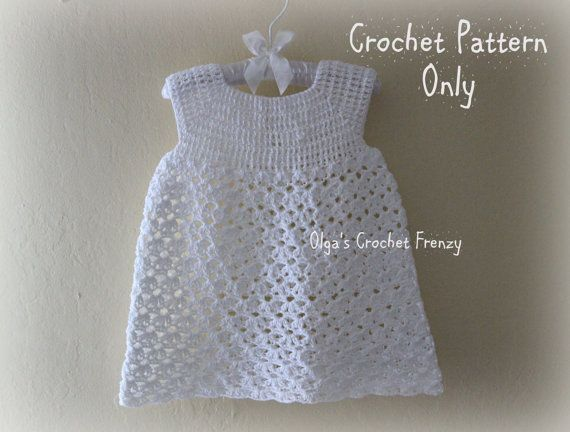 Summer Dress Crochet Pattern Size 3 6 Months Baby Lace Etsy In 2020 Crochet Toddler Dress Crochet Baby Dress Pattern Toddler Dress Patterns