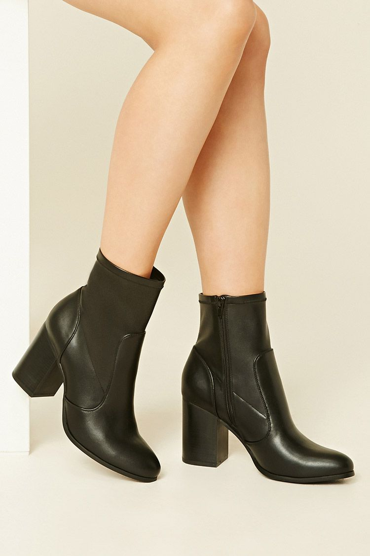 Strappy Ankle Wooden Stacked Heel Pull on Ankle Boot Bootie