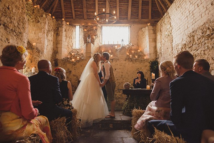 Newlands Chapel Barn Kent UK Ceremony Rustic Quirky Woodland Wedding http://www.rebeccadouglas.co.uk/
