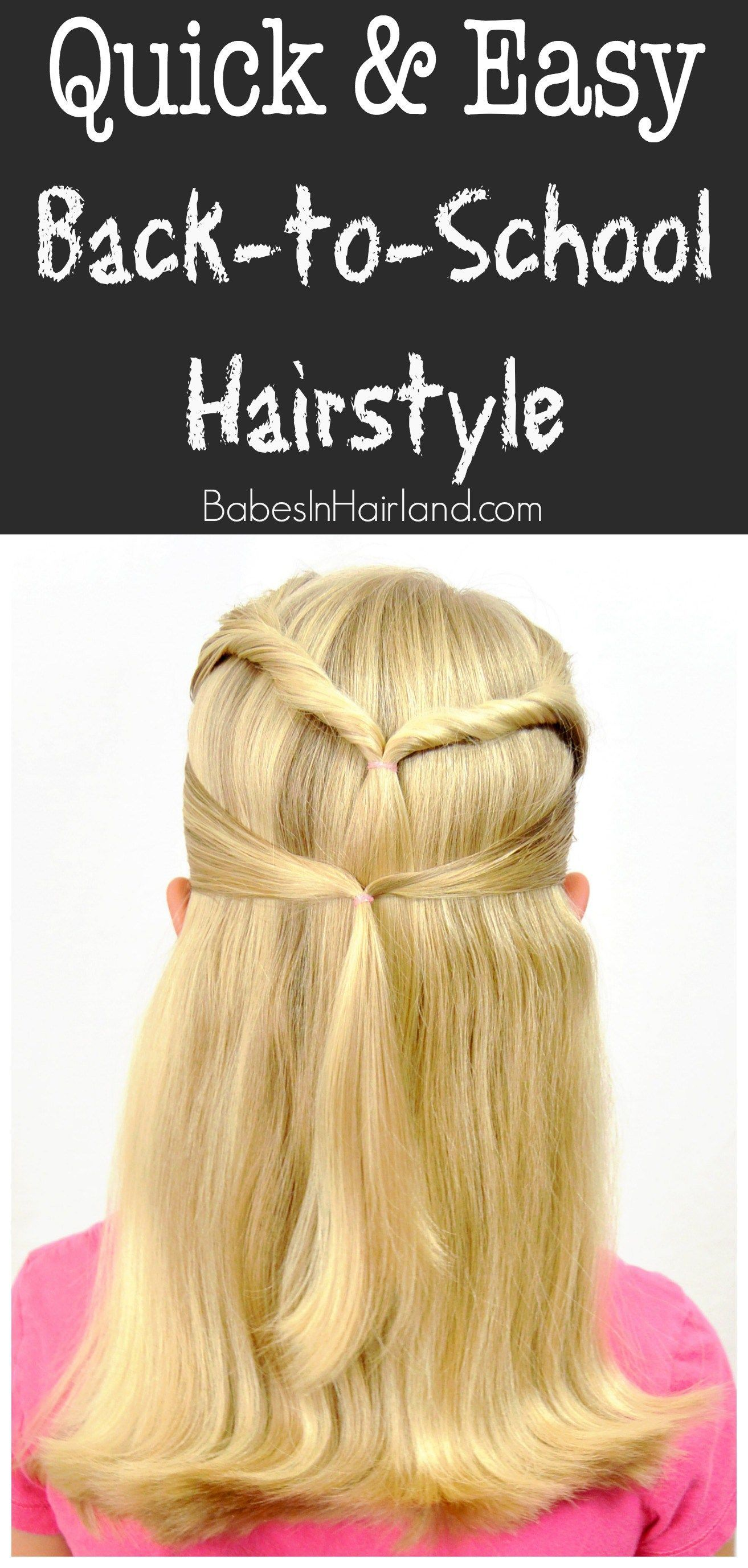 Quick u easy backtoschool hairstyle from babesinhairland