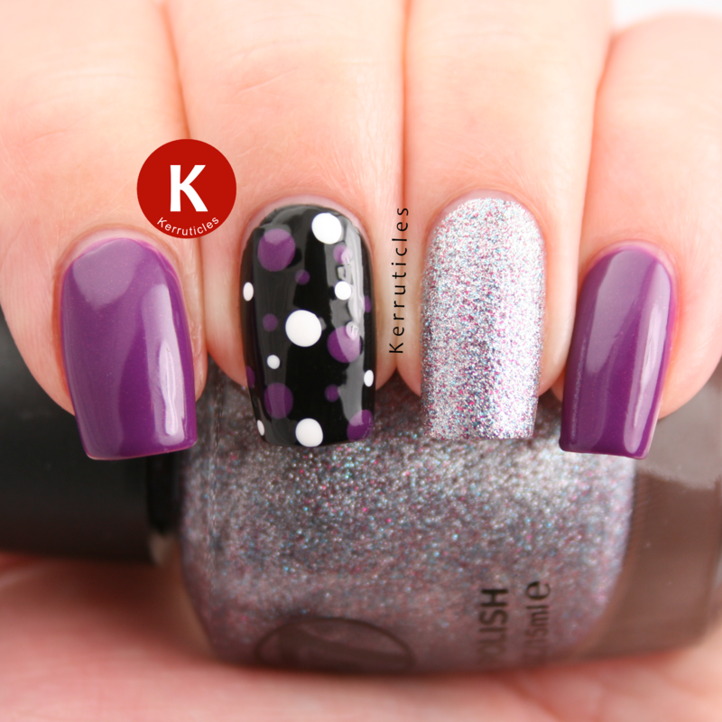 Nailpolis Museum of Nail Art | Purple, silver and black skittlette ...