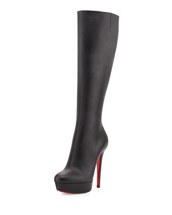 Bianca Botta Red Sole Knee Boot, Black by Christian Louboutin at Neiman Marcus.