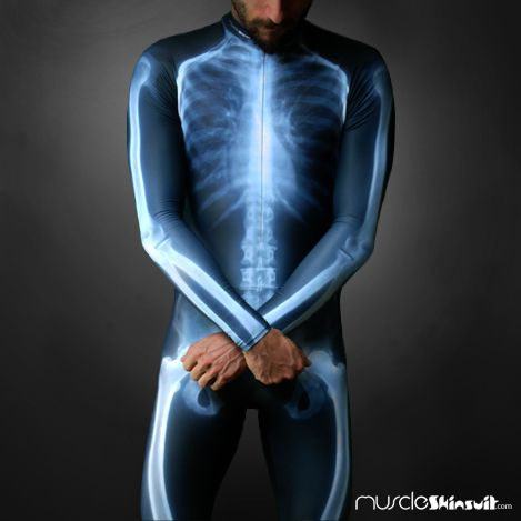 X-Ray - Anatomy skin suit for cyclists and Inline Skates | Anatomy ...