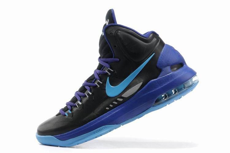 kevin durant shoes 2013 Nike KD V Black Blue Glow Game Royal Strata Grey  554988 003