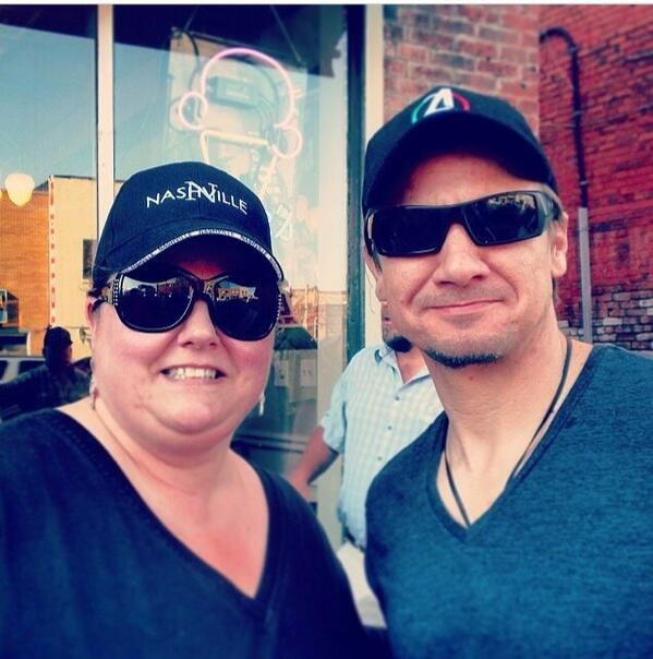 Jeremy with a fan in Nashville May 2014