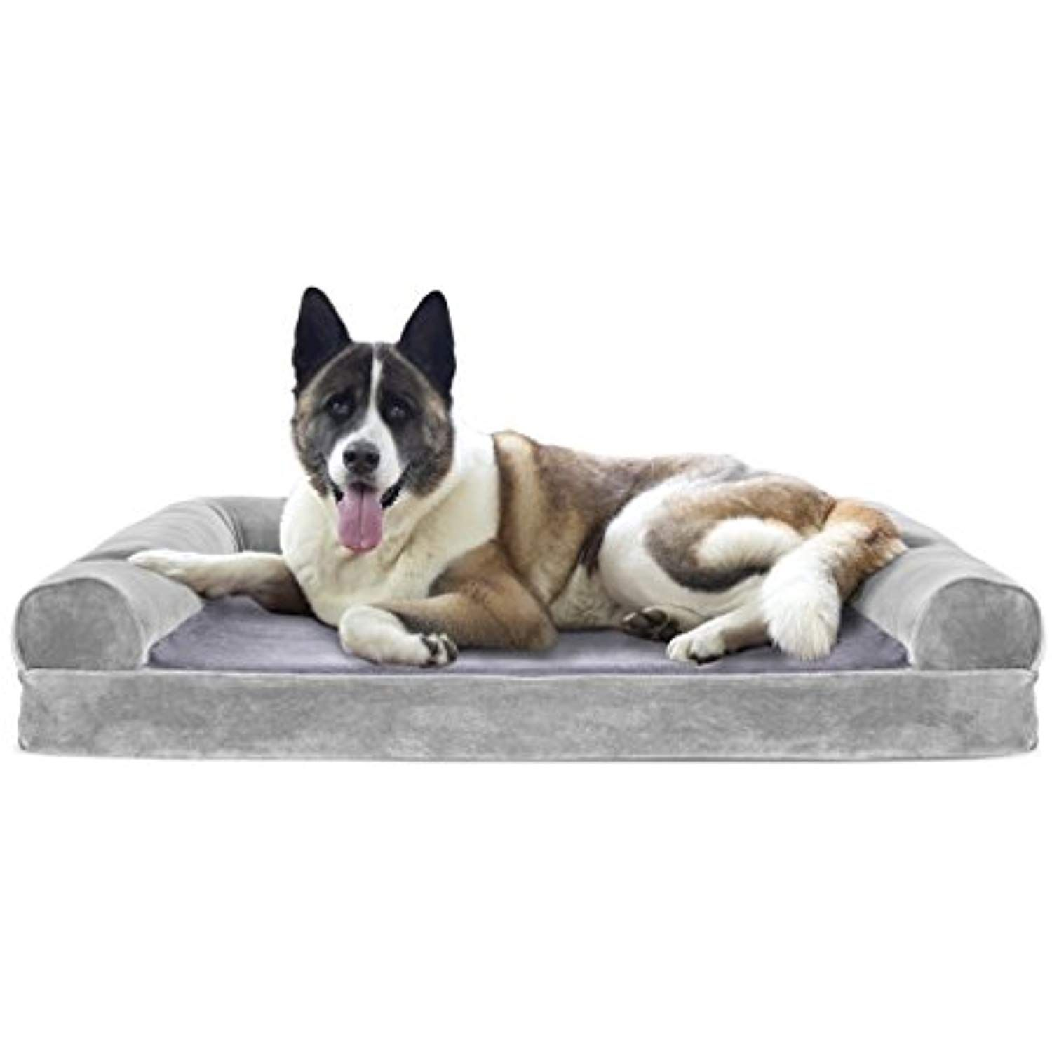 Furhaven Cooling Gel Memory Foam Orthopedic Faux Fur And Velvet