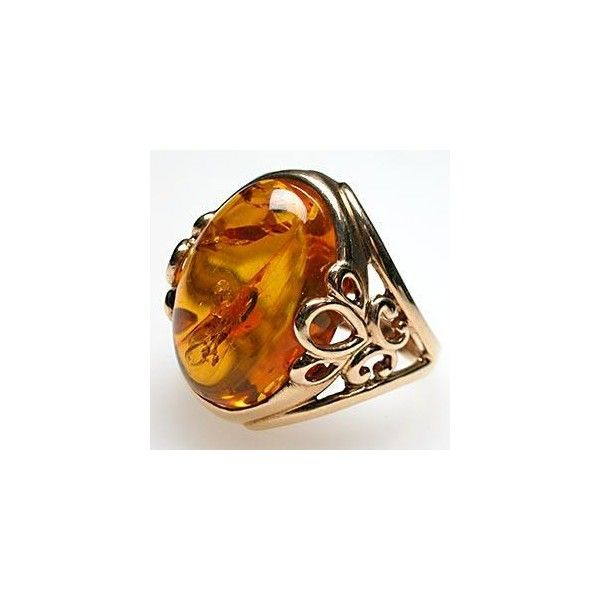 53211f73cdcb0 Vintage Cocktail Ring Natural Amber Solid 14K Gold | Jewelry art ...