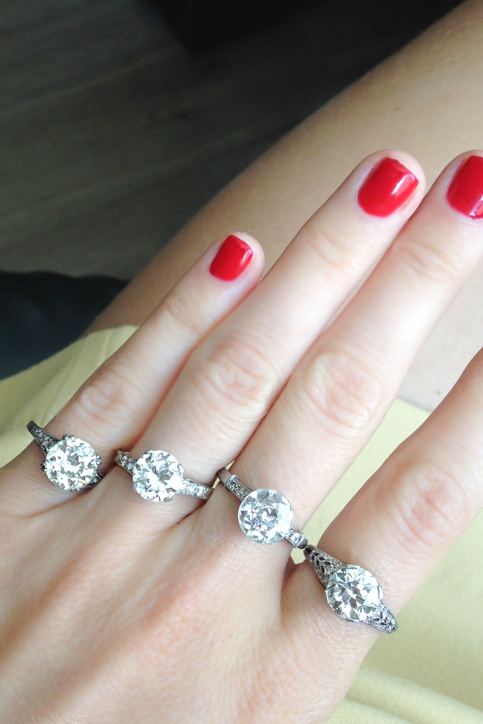 Four of a kind vintage engagement rings Can you choose just one