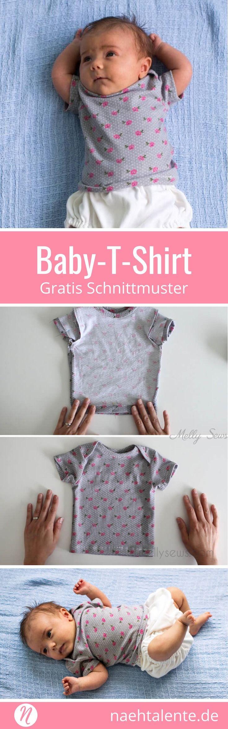 Baby T-Shirt - Freebook für 0 - 3 Monate | Nähtalente #freebookschnittmuster