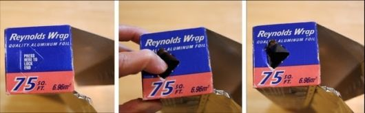 1. You've probably been ignoring this feature.  Everyday Products You Probably Use The Wrong Way  Most aluminum foil boxes have press-in tabs that secure the roll in place, so you don't have worry about it flying out every time you rip off a sheet.