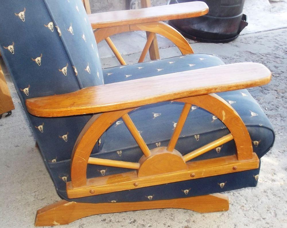 Fine 50S Mid Century Texas Oak Watson Ranch Furniture Wood Rocker Unemploymentrelief Wooden Chair Designs For Living Room Unemploymentrelieforg