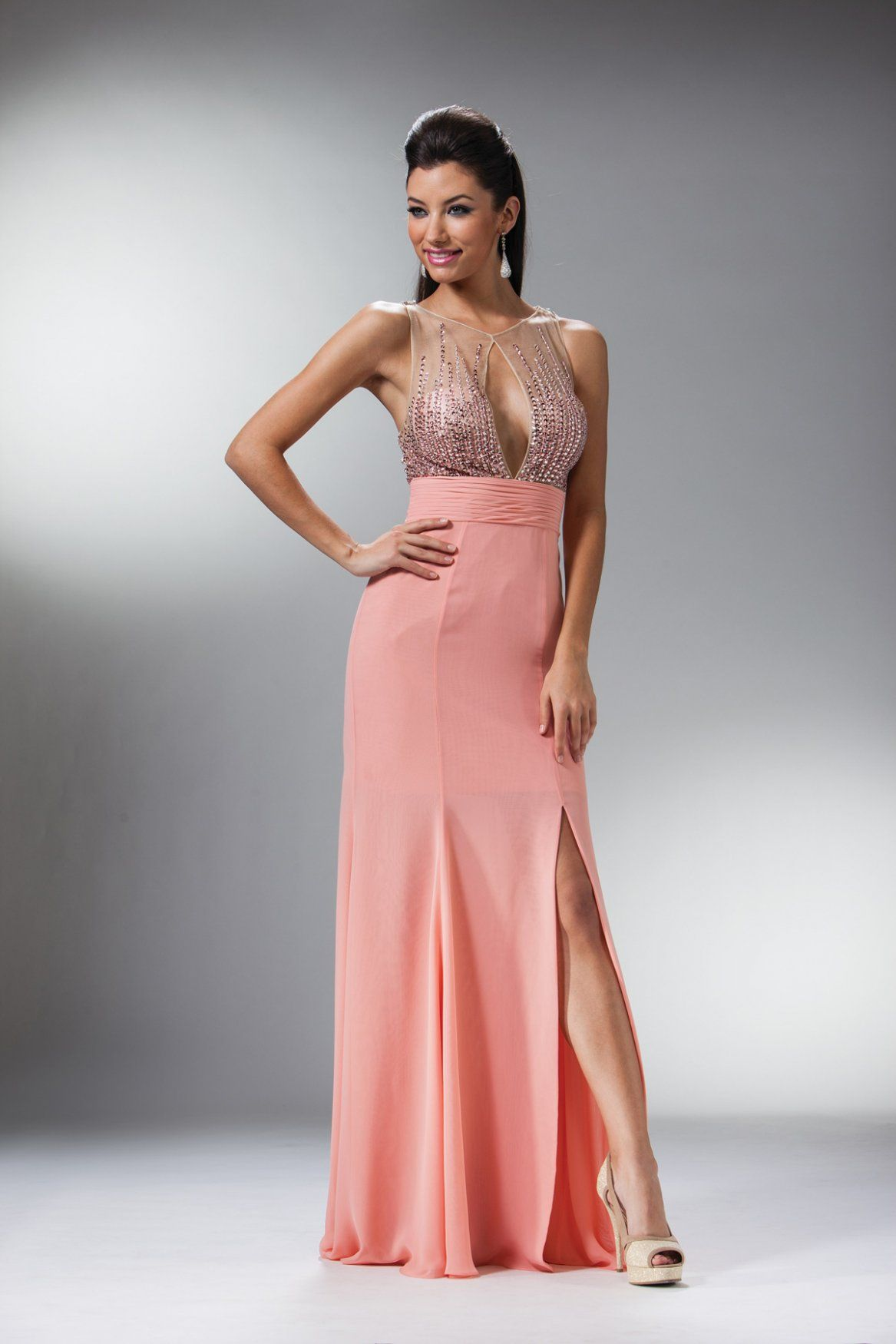 Daringly different, this dazzling dress from Cinderella JC927 is ...