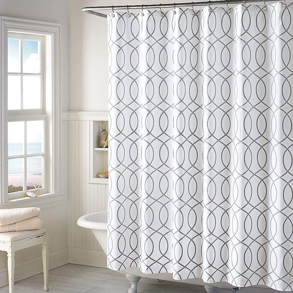 Huntley Shower Curtain Grey Gray Shower Curtains Bathroom