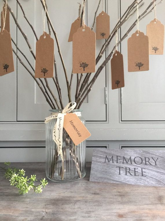 25 Memory Tree Tags  Funeral Remembrance Celebration of Life Wake Condolence Sympathy
