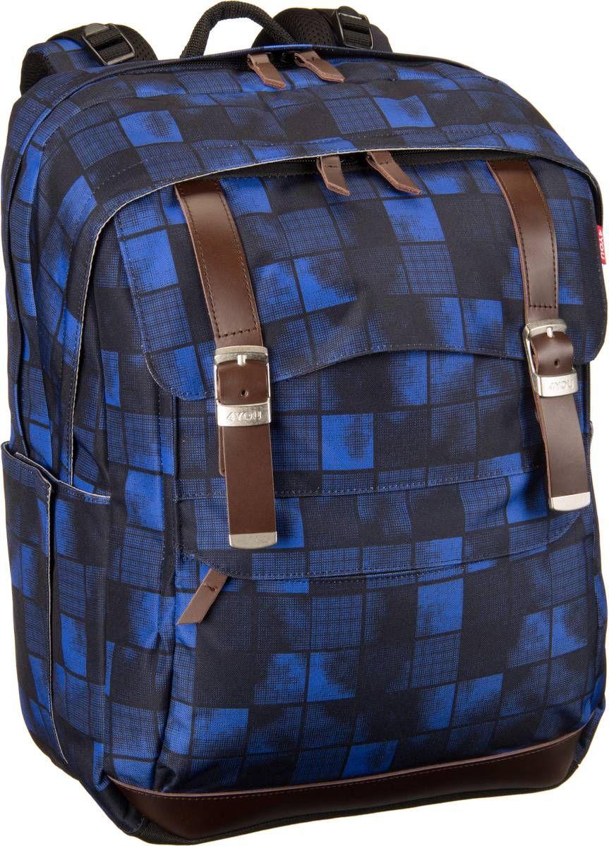 f35aa6b159682 Taschenkaufhaus 4YOU Legend Schulrucksack Squares Blue - Schulrucksack   Category  Taschen   Koffer   Schulrucksack