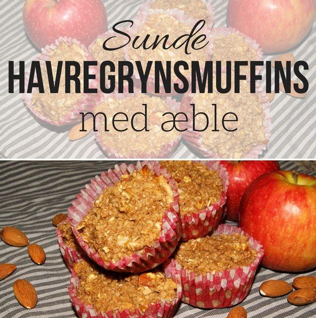 Super nemme og skønne havregrynsmuffins med æble, som gør dem dejligt søde, selvom de er helt uden mel og sukker. Perfekt til morgenmad eller som en lille snack.
