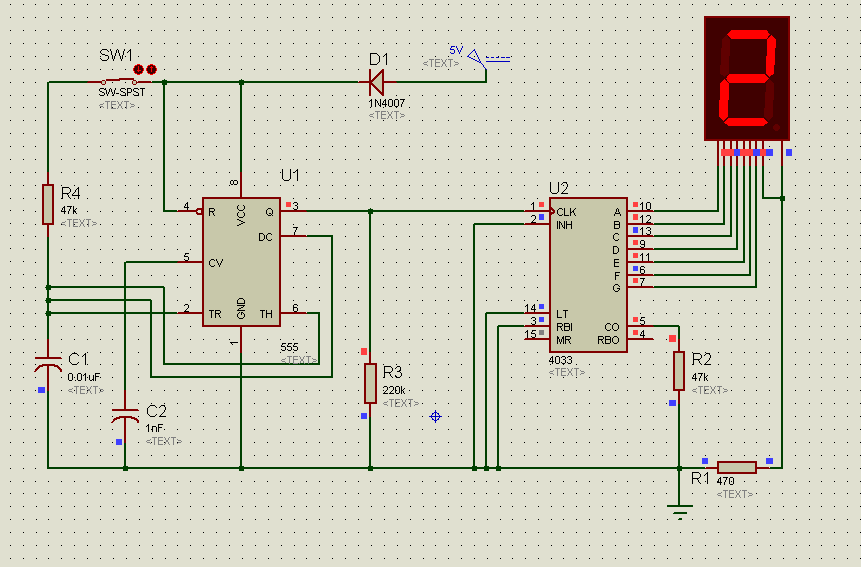 7 Segment Counter Circuit using 555 timer IC This timer