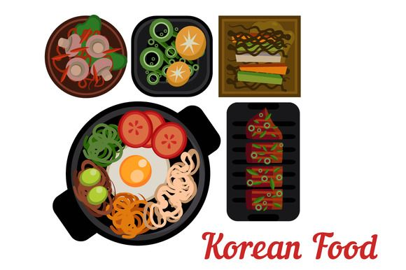 Korean Food Vector Icon Korean Food Food Icons Food Drawing