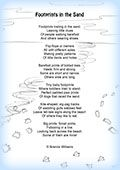 Dashing image regarding poem footprints in the sand printable