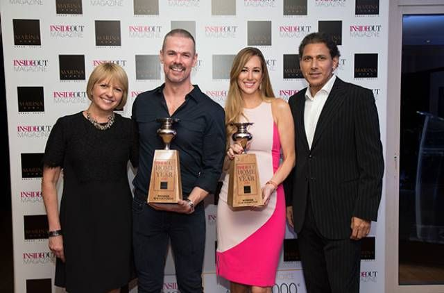 Editor Sharon Parsons with Home of the Year 2015 winner Bernard Creed, Home of the Year 2014 winner Claudia Baliyan and Marina Home Interiors Co-Founder Khurshid Vakil. - See more at: http://insideoutmagazine.ae/features/in-pictures-home-of-the-year-awards-2015-party-1.1600596#sthash.iXbwwIVZ.dpuf #HOTY #HomeoftheYear #MarinaHomeInteriors
