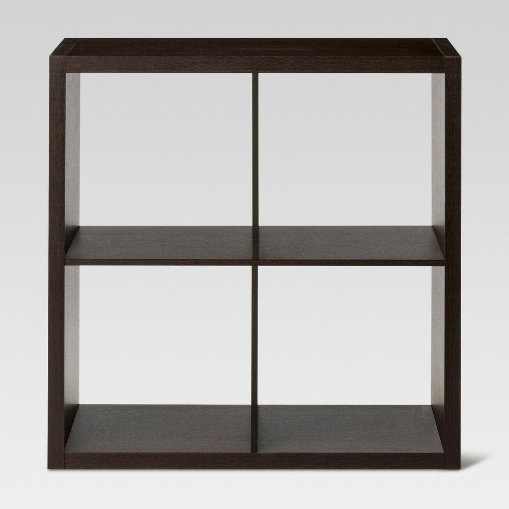 4 Cube Organizer Shelf Espresso Brown 13 Threshold Shelves Cube Organizer 4 Cube Organizer