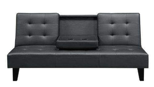 Convertible Sofa Bed With Drink Holder