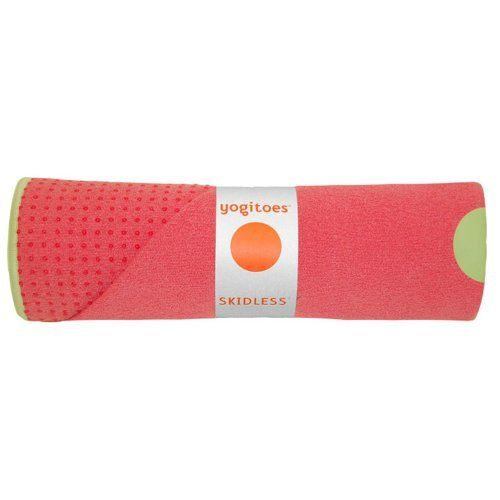 Yogitoes Skidless Mat Size Towel (Guava) by Yogitoes. $49.95. Our famed SKIDLESS full size towel is so unique, that it's an absolute yoga necessity.  Not only does it prevent slipping on your yoga mat, it stabilizes your practice, it puts a hygienic layer between you and the yoga mat, easy to care for, is quick drying and is perfect for the traveling fitness enthusiast.  There is no other product on the market like it.