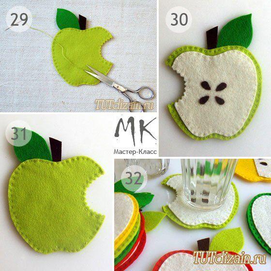Прихватка сладкое яблочко рисунок для выкройки