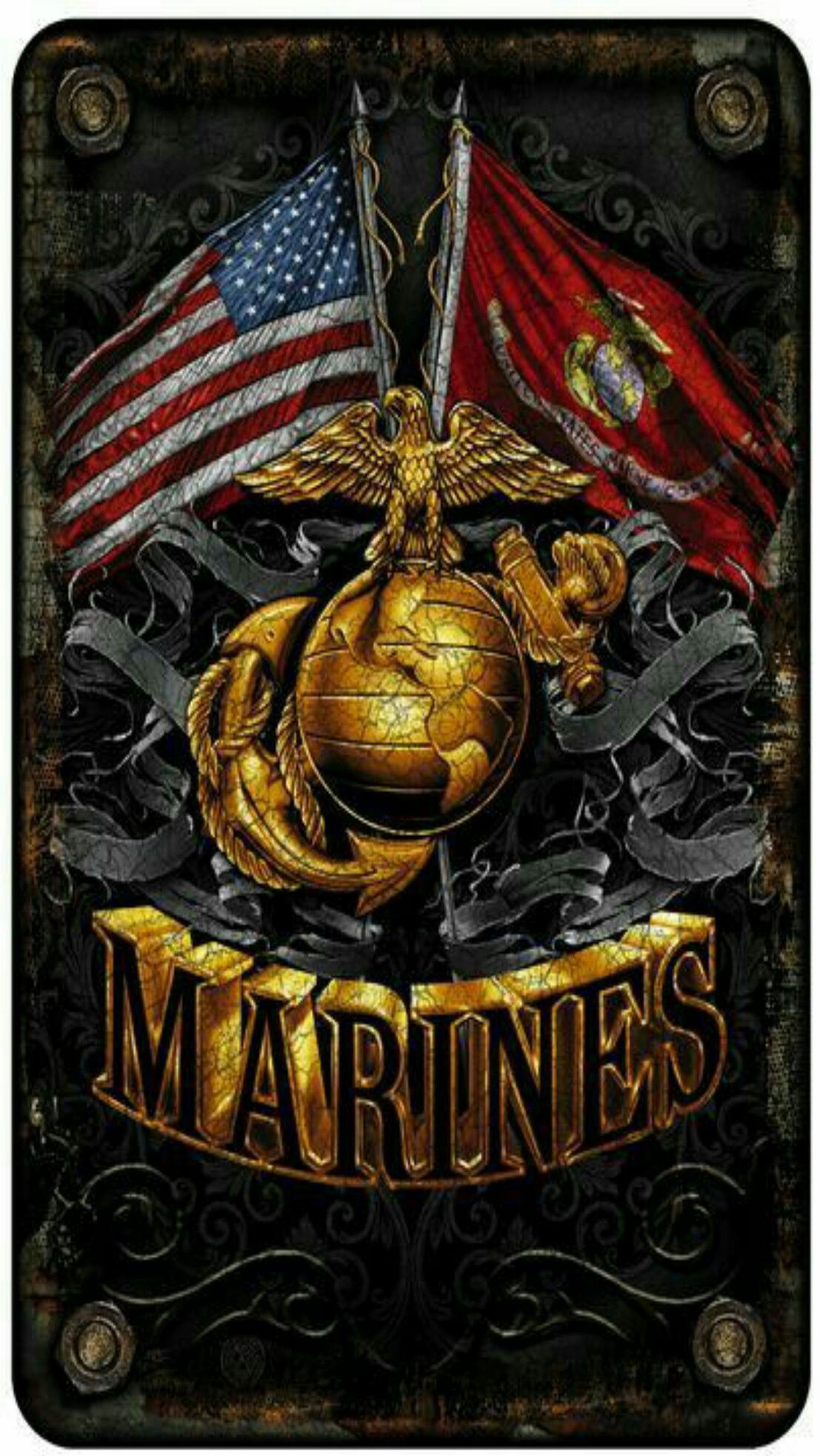 Marines Usa Black Wallpaper Android Iphone Marine