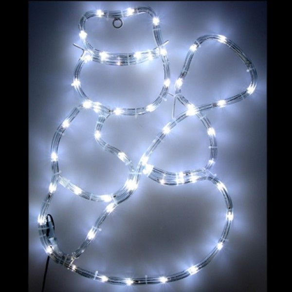 Silhouette De Noel Exterieur #6: Silhouette De Noel Du Bonhomme De Neige Lumineux