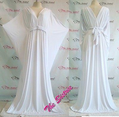 Evening maxi dresses white plus