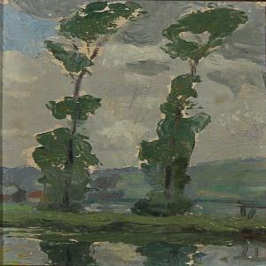 Einar Wegener Study For Poplars