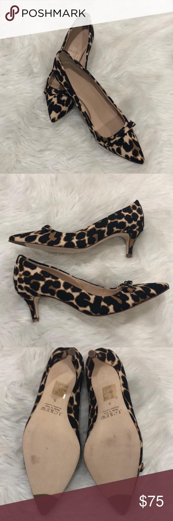 J Crew Dulci Kitten Heel Sz 5 In Vivid Leopard Kitten Heels Heels Clothes Design