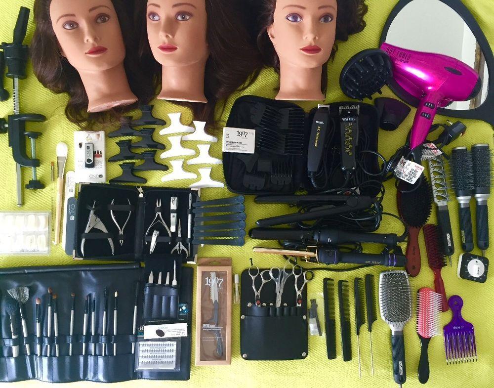 AVEDA Cosmetology Student Kit and travel bag/Nails/4 hot