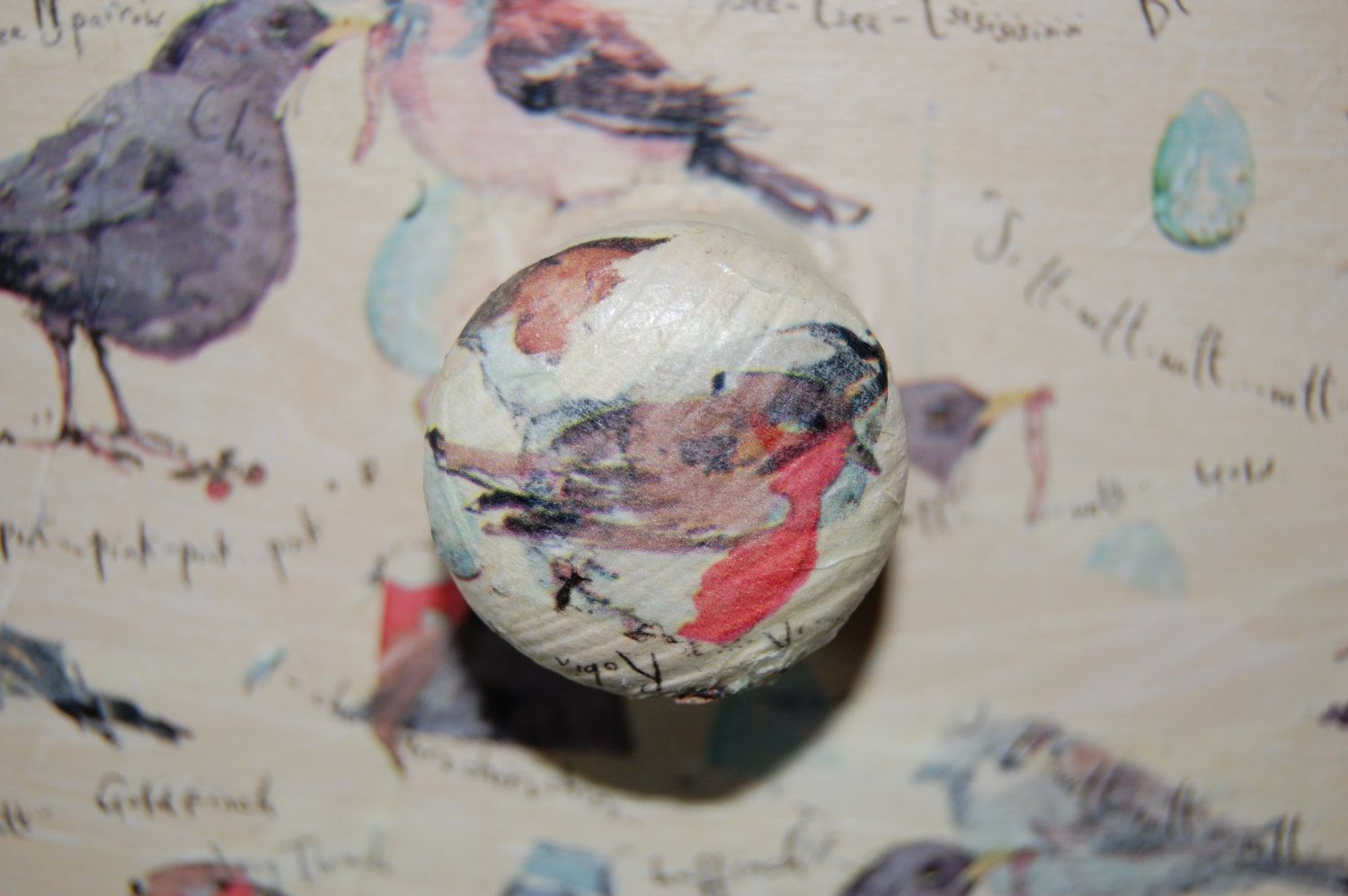 Decoupage Drawer Knob by KitschKats on Etsy https://www.etsy.com/listing/189910752/decoupage-drawer-knob