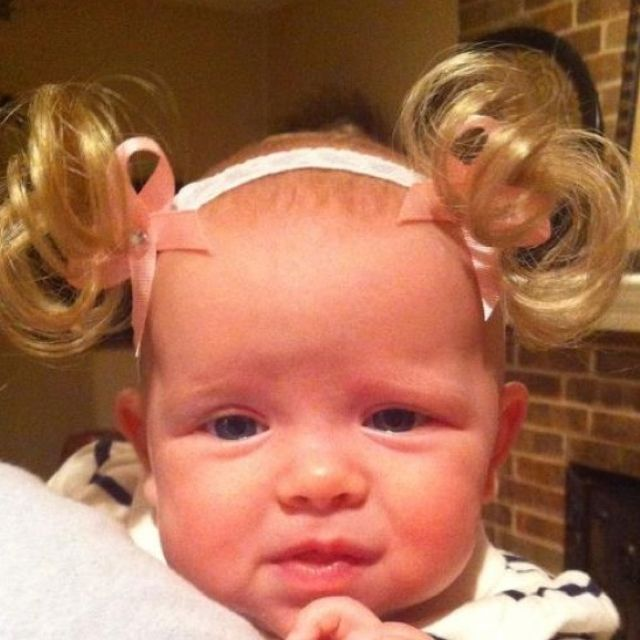 Fake Pigtails For Your Bald Baby Toddler Girl Kid N Me