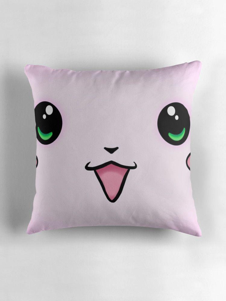 Kawaii face super kawaii throw pillow by hea13y