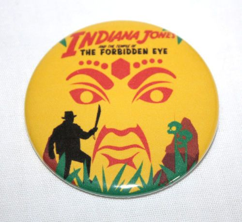 INDIANA-JONES-TEMPLE-FORBIDDEN-EYE-MAGNET-Vintage-Disneyland-Poster-Art-Disney