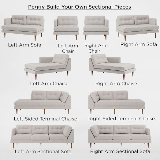 Build Your Own Peggy Sectional Pieces Outdoor Furniture Sofa