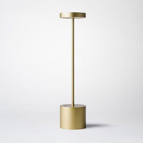 Table lamp contemporary indoor outdoor metal luxciole dore by hervé isle de